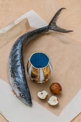 Cup with Fish, Fruit