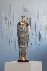 Vase with Owl