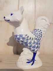 Foxy Cock (Blue Floral Decal)