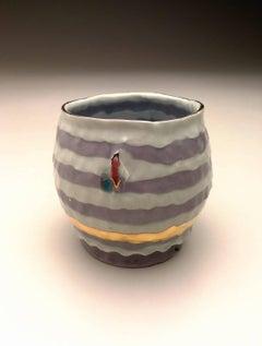 Sugar coated teabowl - Golden Violet