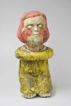 Seated figure (red head seated girl figure)