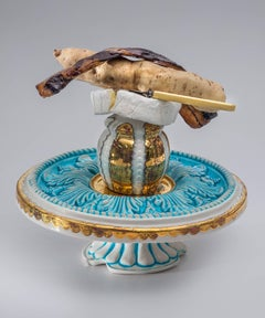 Memento Mori - Cake Stand, Cup, Bacon, Vegetable & Brie
