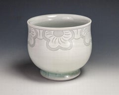 Sgraffito Flower Cup
