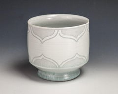 Sgraffito White Cup