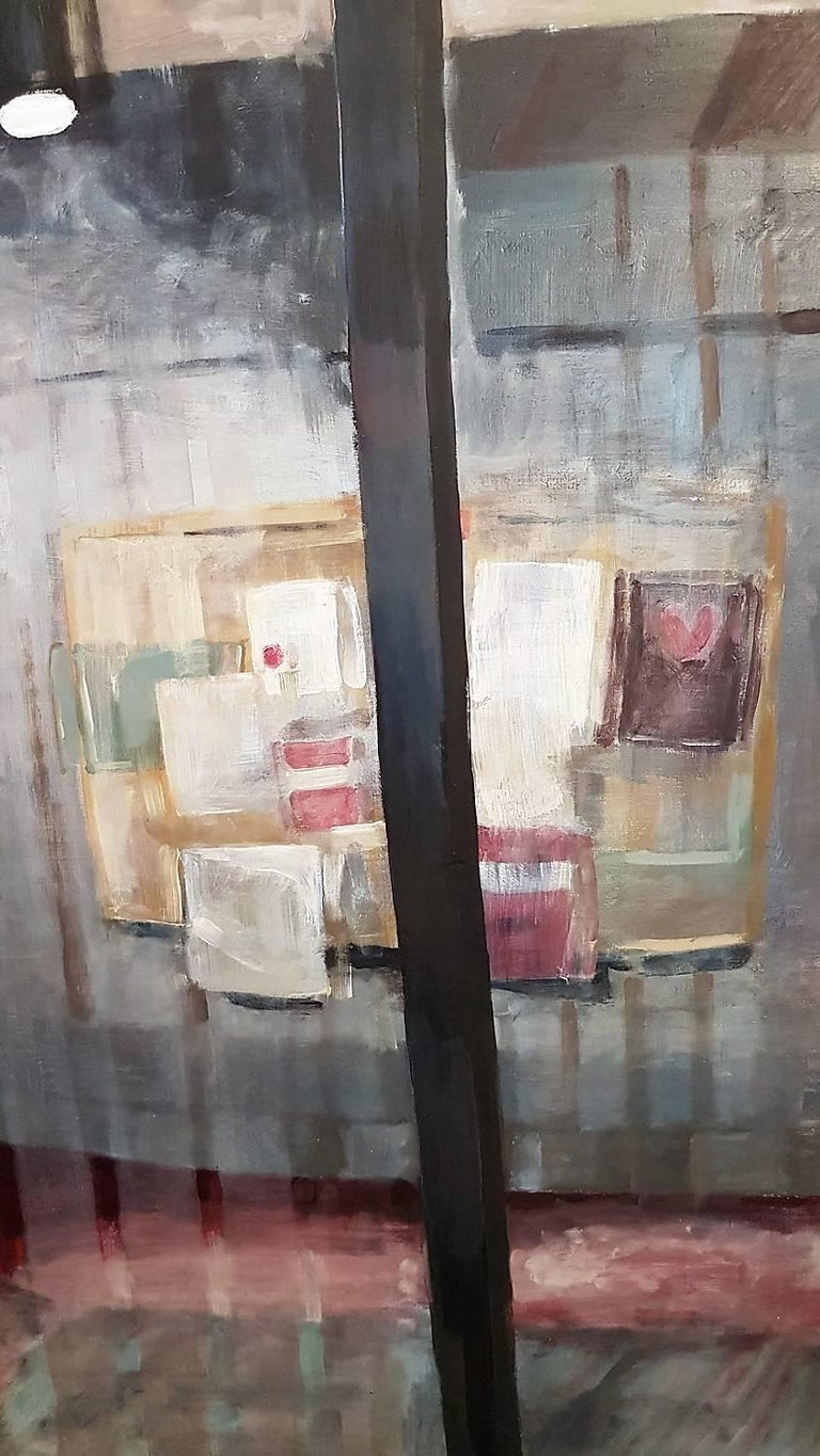 Reflections #2 - Black Still-Life Painting by Shannon Deatrick