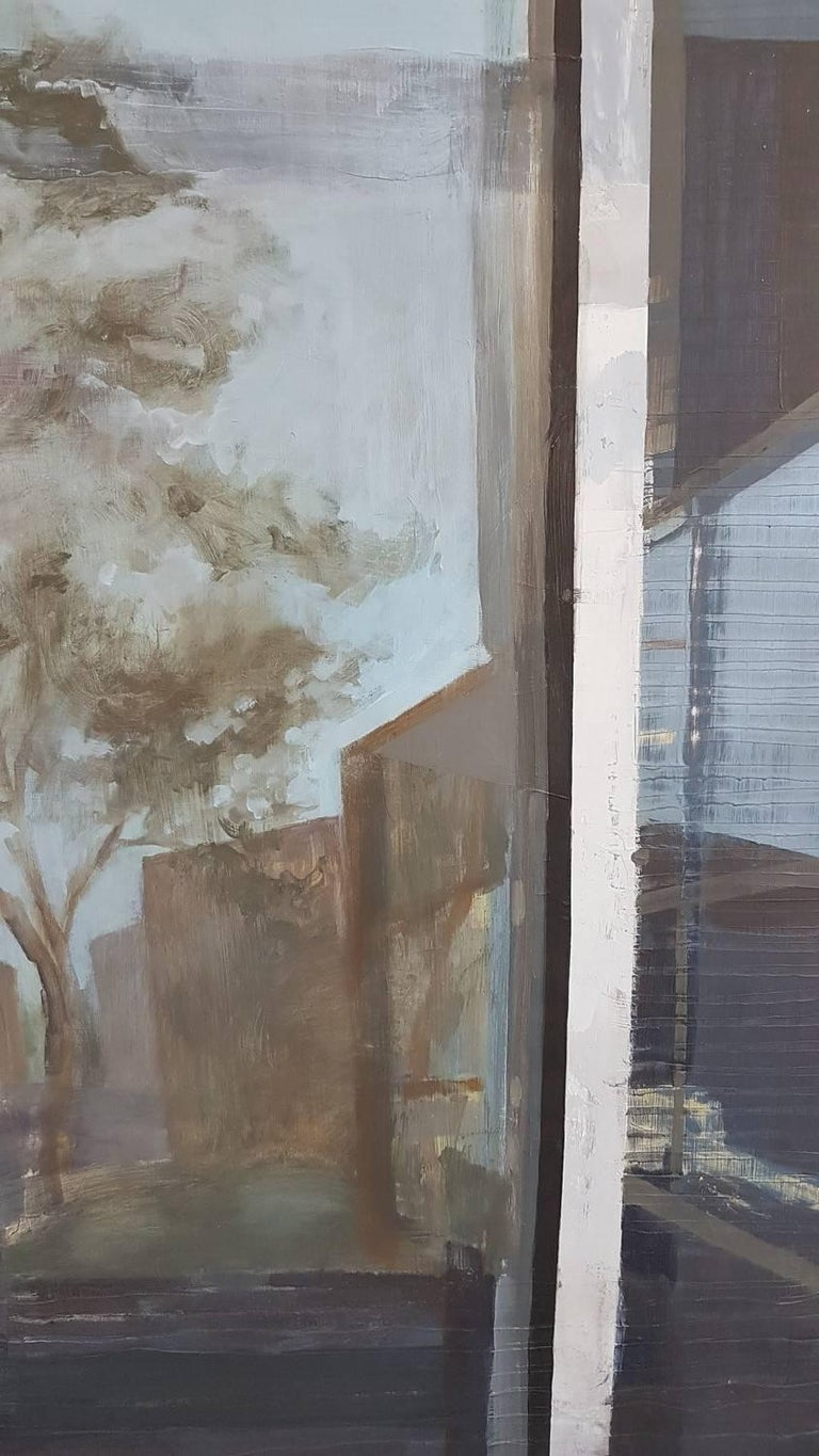 Reflections #1  - Gray Still-Life Painting by Shannon Deatrick