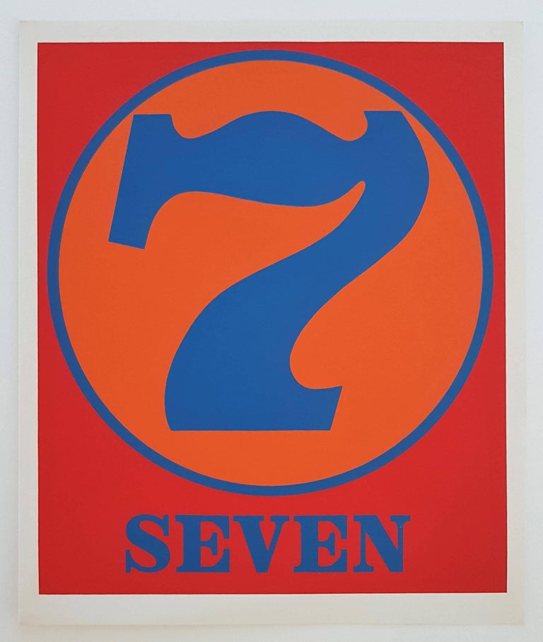 Robert Indiana Print - Number Suite - Seven
