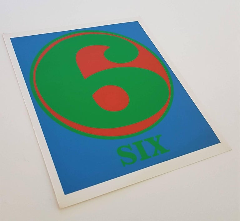 Number Suite - Six - Print by Robert Indiana