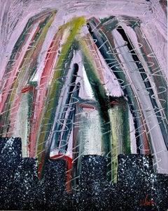 """São Paulo"" by Enzio Wenk, 2004 - Acrylic on Cardboard, Expressionism"
