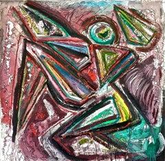"""Composizione con personaggio"" by Enzio Wenk, 2008 - Acrylic , Neo-Expressionism"