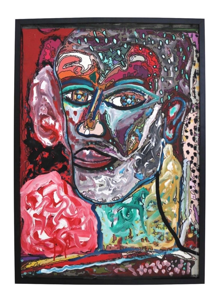Self Portrait - Painting by Enzio Wenk