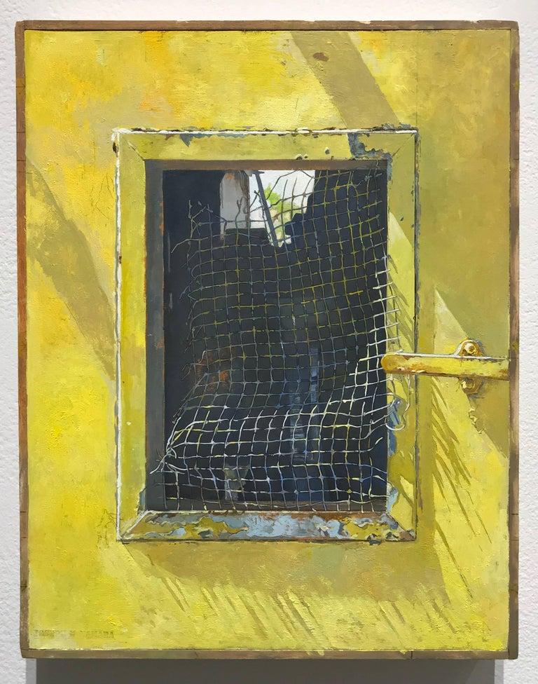 Joseph McNamara Landscape Painting - WIRE MESH SCREEN, MONTANA