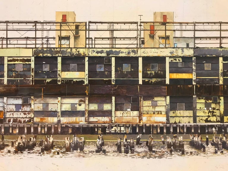 PIER 57 - Painting by Joseph McNamara