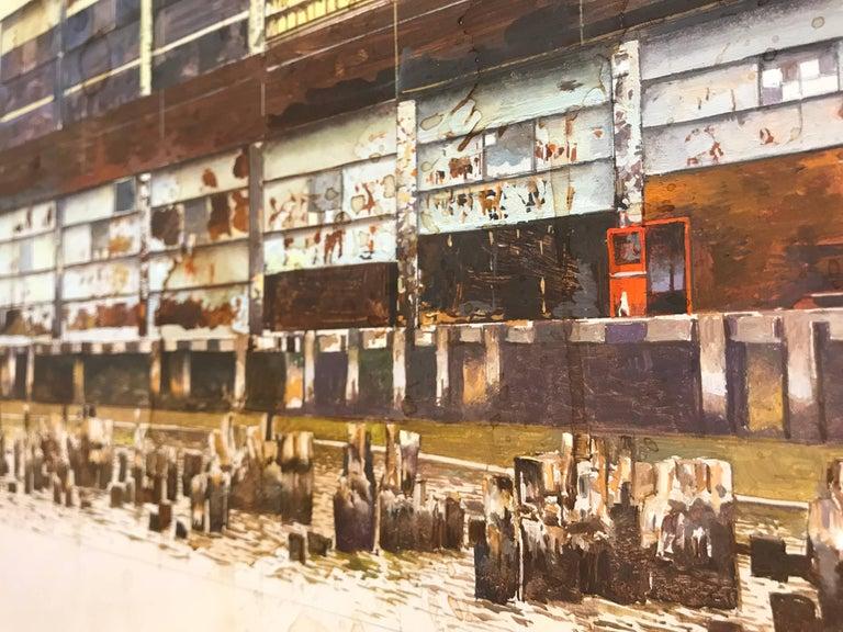 PIER 57 - American Realist Painting by Joseph McNamara