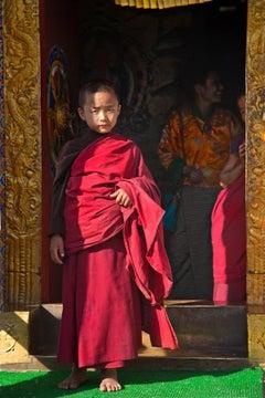 Monk in Waiting; Trongza Dzong, Bhutan- Photograph
