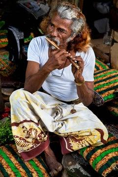 Flute Man; Chitwan, Nepal