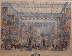 'Interior of The Crystal Palace' Original Hand-Coloured Lithograph