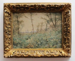 'La Campagne' by Paul Roux, 19th Century French Watercolour Landscape Painting