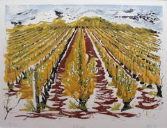 Set of Four Burgundy Vineyard Seasonal Views