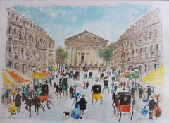 'Place de la Madeleine' Limited Edition Lithograph