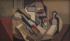 Cubist Still Life on Table