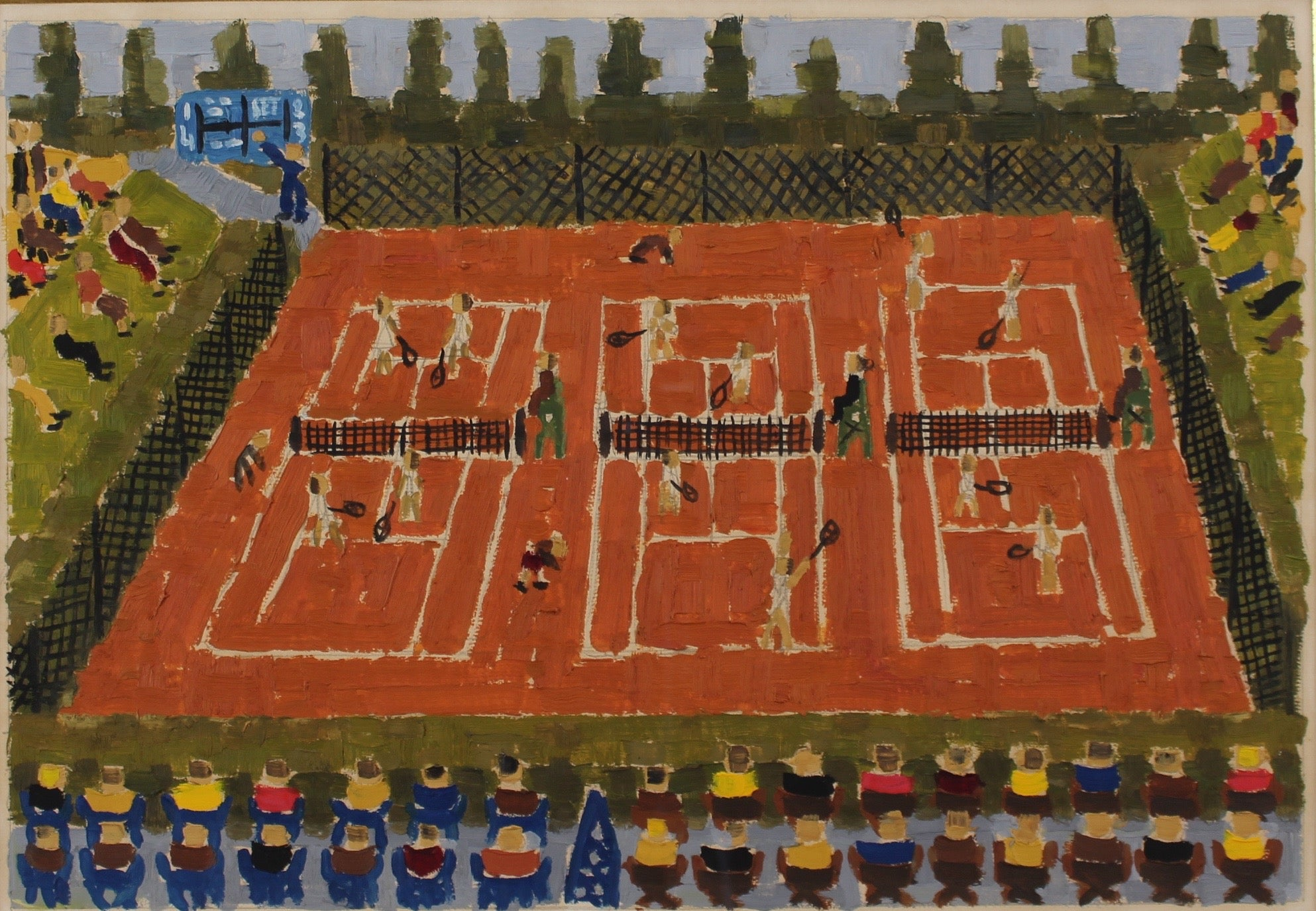 Claud Ambaud Monte Carlo Clay Court Tennis Tournament Painting At