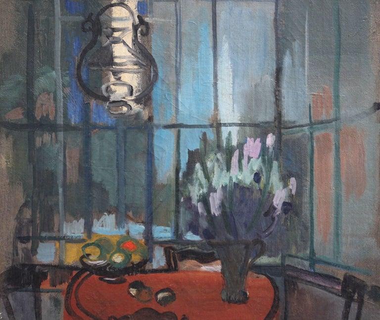 'Interieur' by Lili Pieter Van Leer, Mid-Century Modern Oil Painting, 1950 For Sale 8