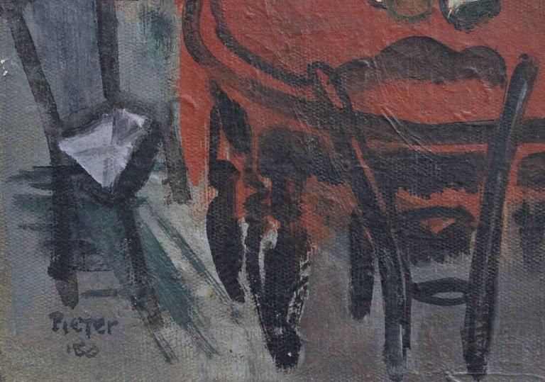 'Interieur' by Lili Pieter Van Leer, Mid-Century Modern Oil Painting, 1950 For Sale 6