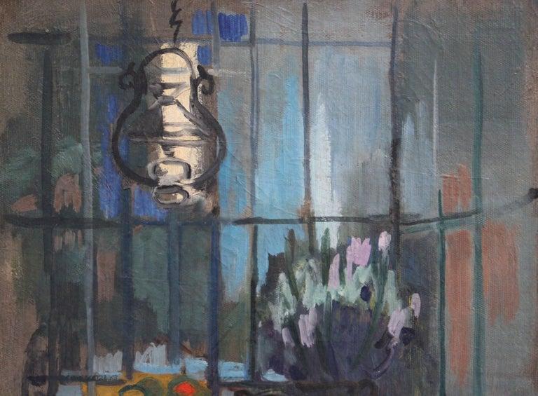 'Interieur' by Lili Pieter Van Leer, Mid-Century Modern Oil Painting, 1950 For Sale 7