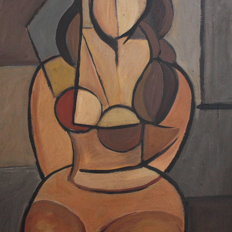 Seated Cubist Nude For Sale 3