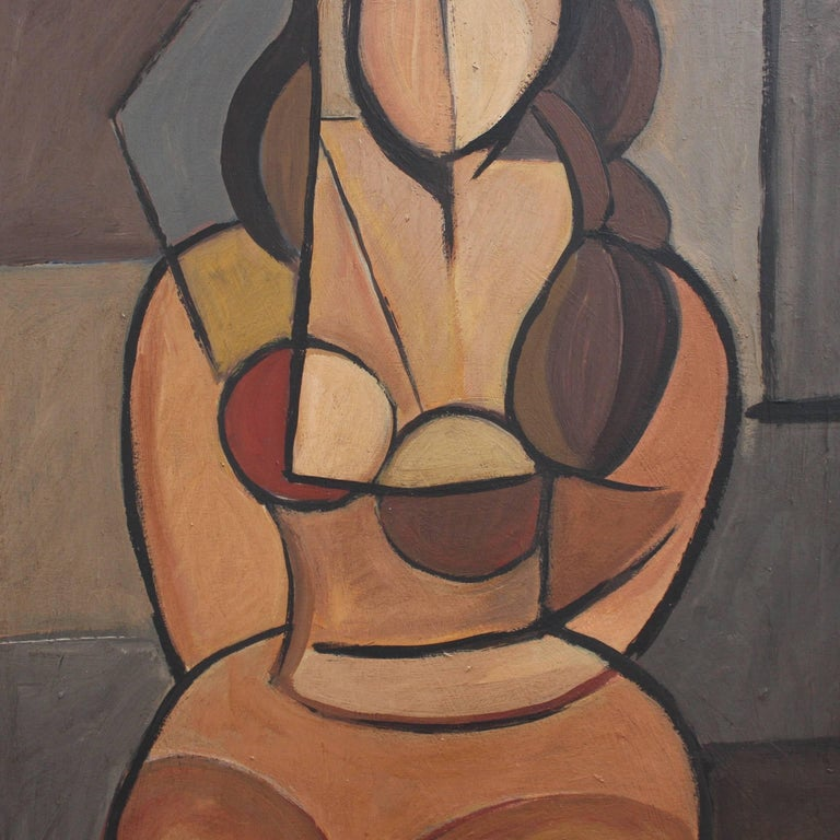 Seated Cubist Nude For Sale 1