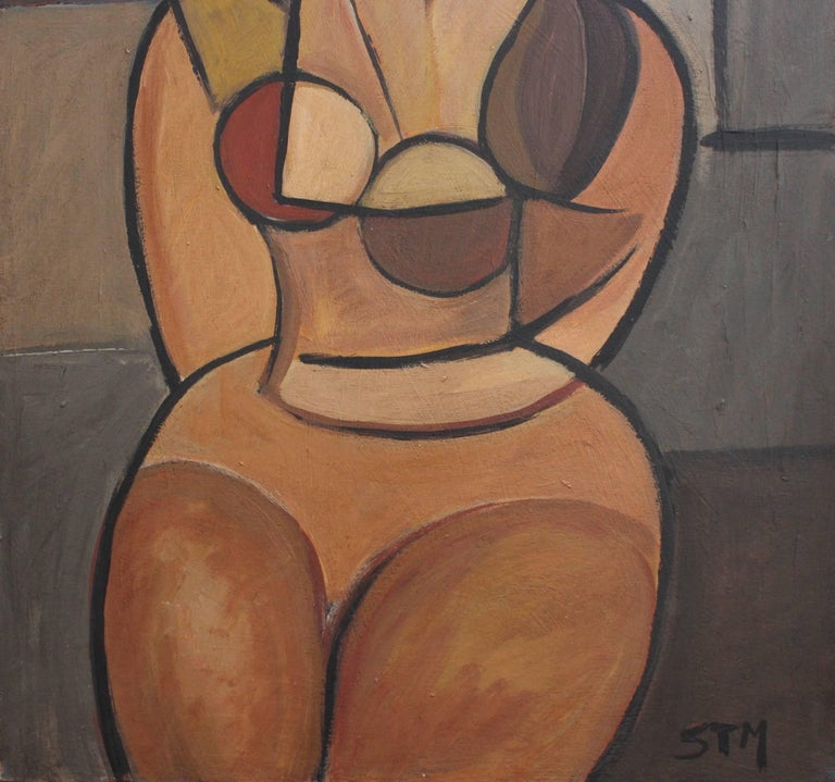 Seated Cubist Nude For Sale 5