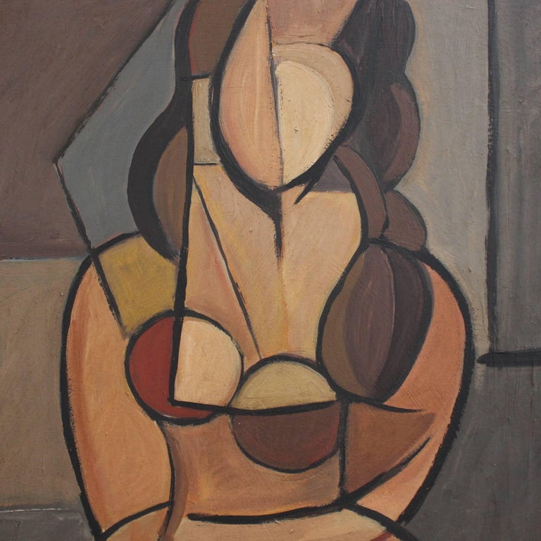 Seated Cubist Nude For Sale 2