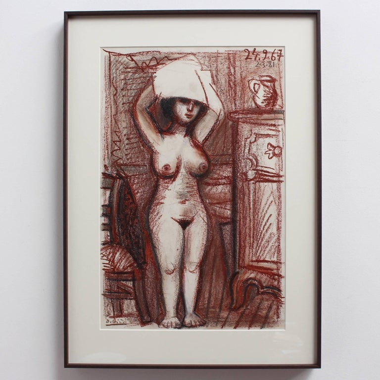 Nude Woman Drying Her Hair For Sale 1