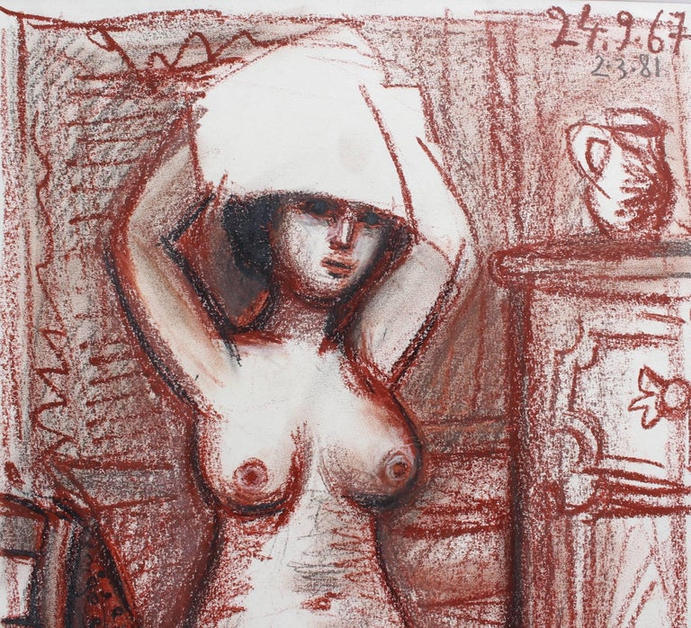 Nude Woman Drying Her Hair For Sale 3