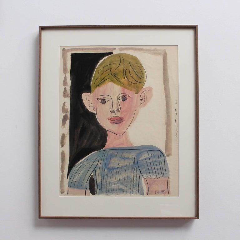 Portrait of a Young Boy - Expressionist Art by Raymond Debieve