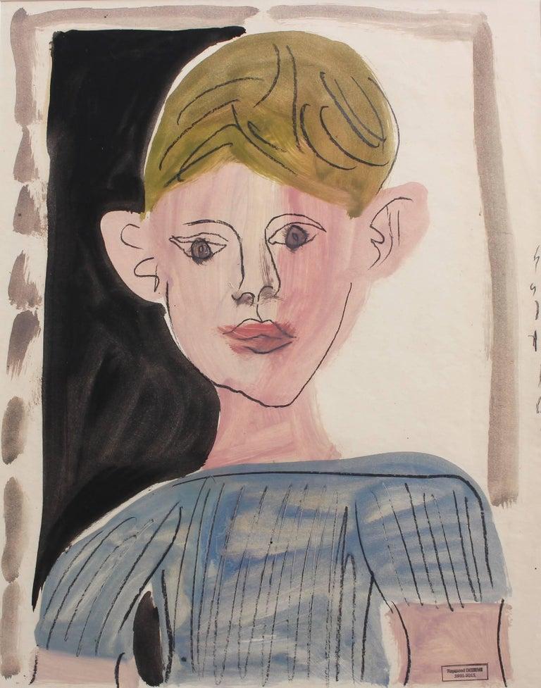 Portrait of a Young Boy - Art by Raymond Debieve