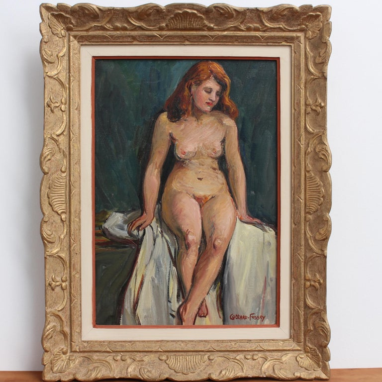 Portrait of Nude Redhead