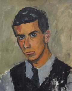 'Portrait of a Young Man' by Unknown Artist, circa 1950s, Oil Portrait Painting