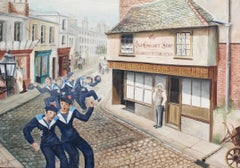 'La Bordée -Tacking in Front of the Old Curiosity Shop' French Sailors in London
