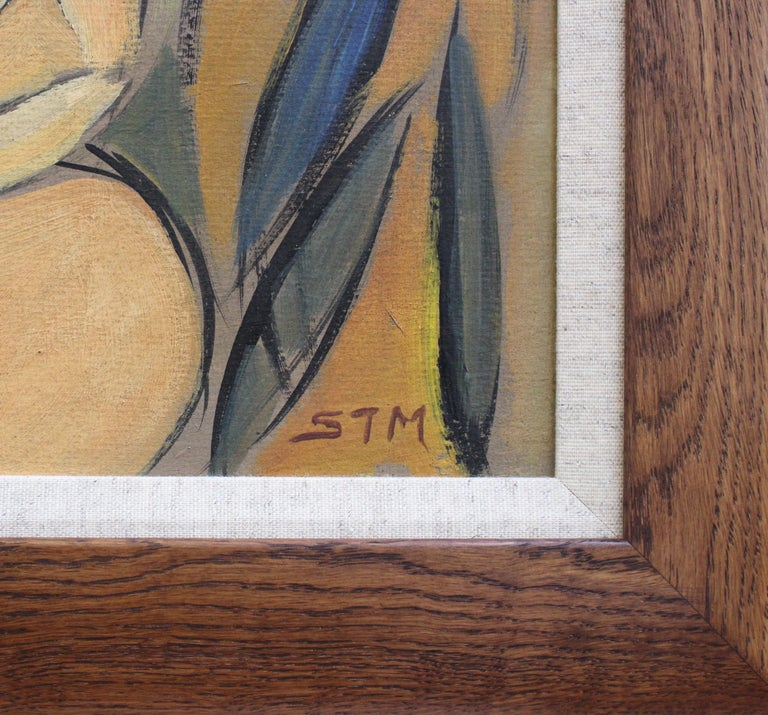 'Two Nudes in Landscape' by STM, Modern Cubist Portrait Oil Painting, Berlin For Sale 12