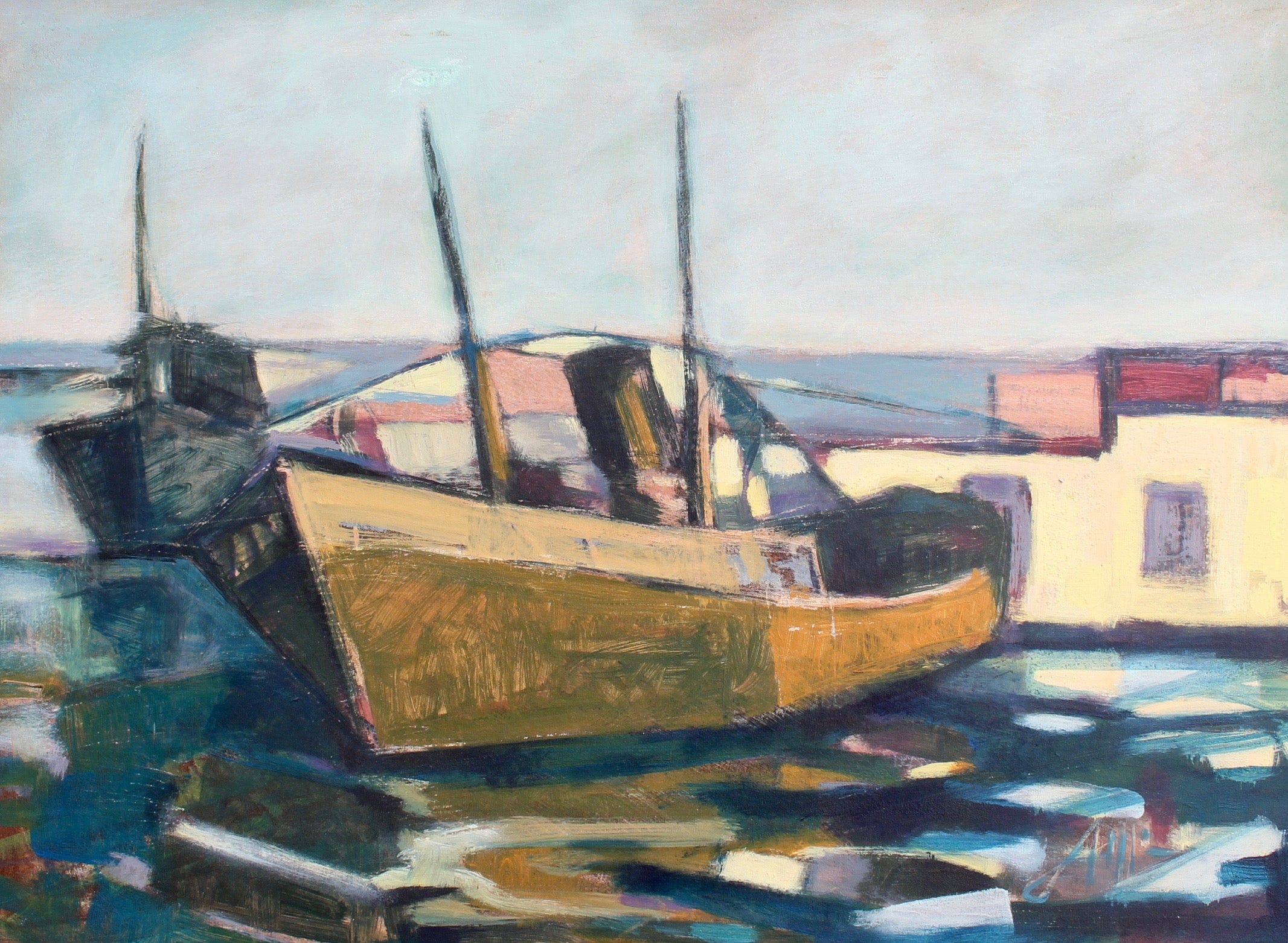 'Old Fishing Boat', Italian Tuscan School