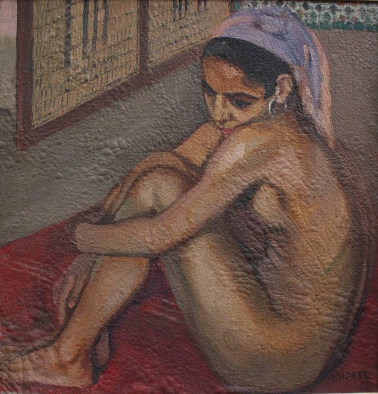 Albert Horel Nude Painting - Nude Moroccan Woman