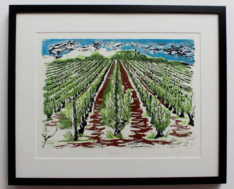 Set of Four Burgundy Vineyard Seasonal Views For Sale 2