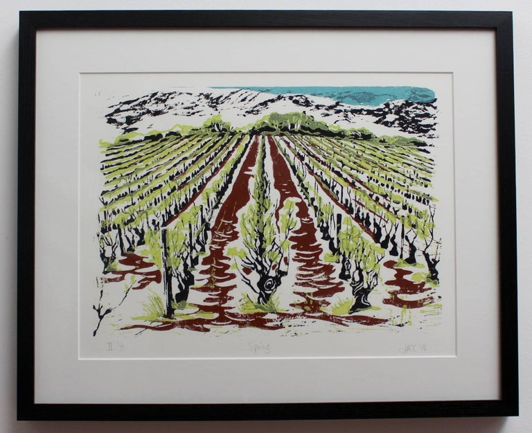 Set of Four Burgundy Vineyard Seasonal Views For Sale 3