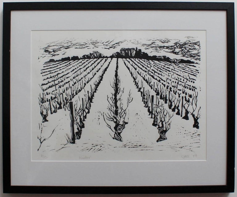 Set of Four Burgundy Vineyard Seasonal Views For Sale 4