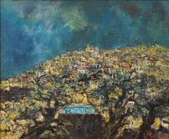 'Jerusalem' by Yitzhak Frenkel-Frenel, Landscape Oil Painting, Circa 1960s