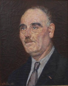 Ernest Pernelle, 'Portrait of a Suited Man', Oil Painting, 1944