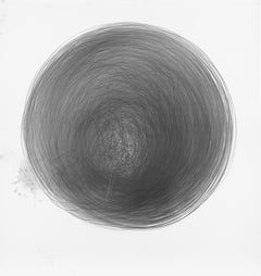 Carali McCall, Work no. 1 (Circle Drawing) 1hour 09min, Lithograph Print, 2017