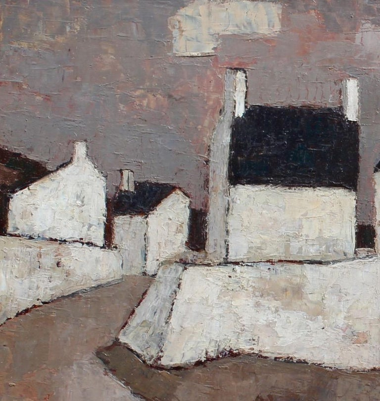 'Le Port' by Frank Milo, Mid-Century Seascape Oil Painting, Brittany France 1962 For Sale 2